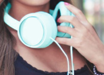 Turquoise Headphones
